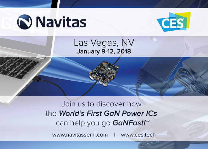 Navitas to Bring the Power of GaN to CES 2018