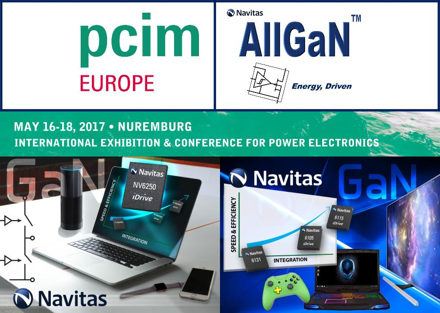 Navitas Announces GaN Power IC Experts to Present at Major Power Electronics Event