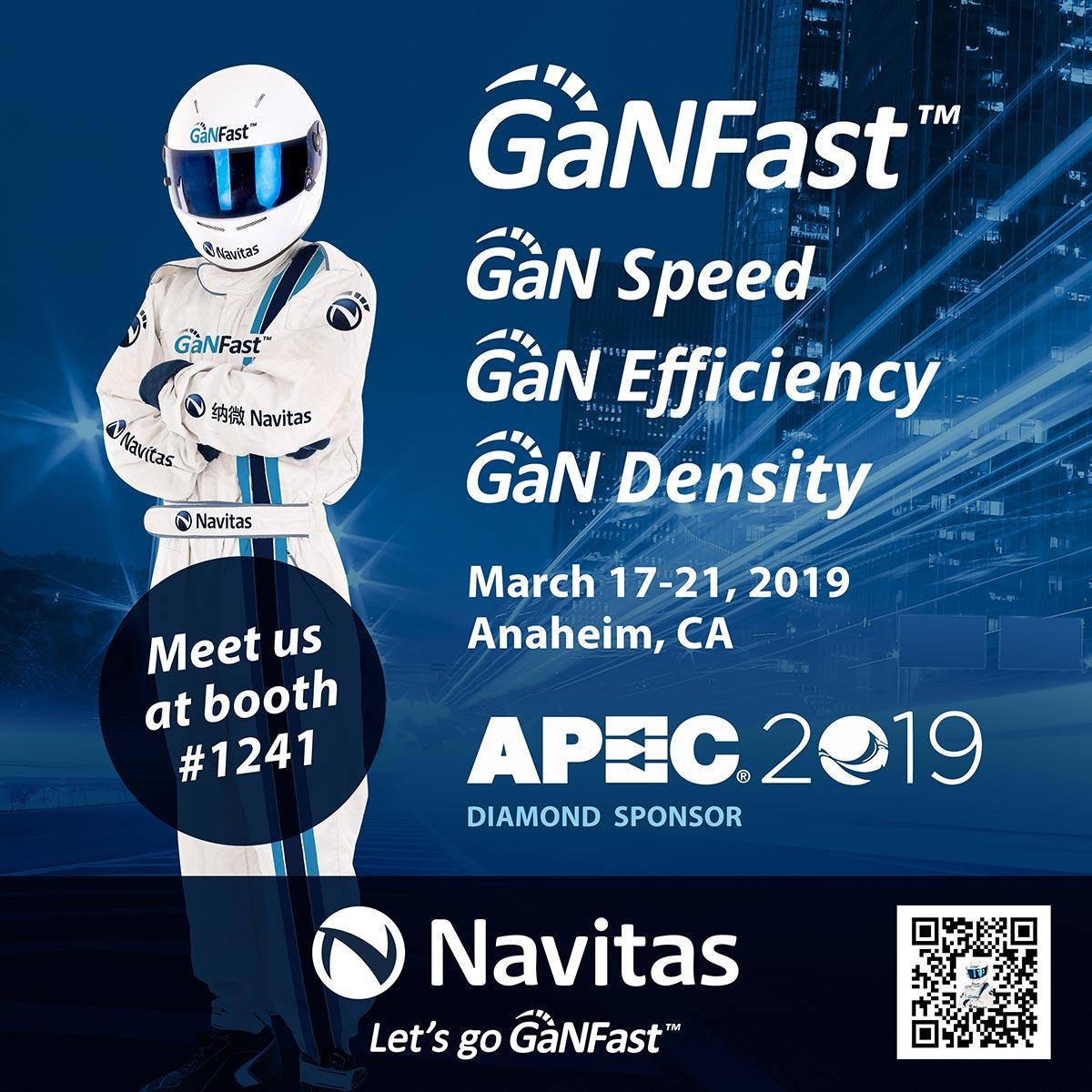 Navitas to Showcase GaNFast™ Charging Technology at APEC 2019