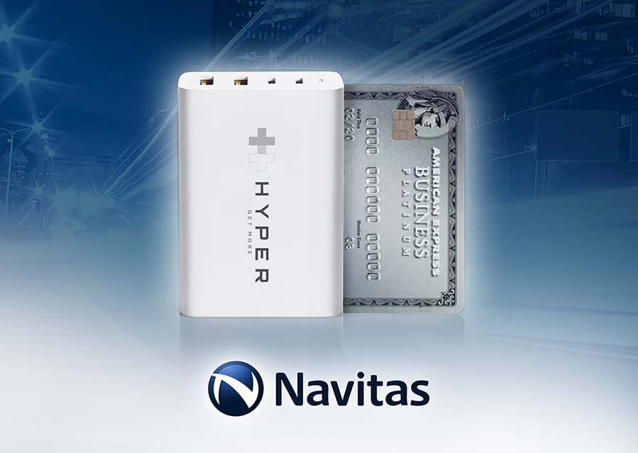 Navitas and HYPER Deliver the World's Smallest 100W 4-port Wall Charger