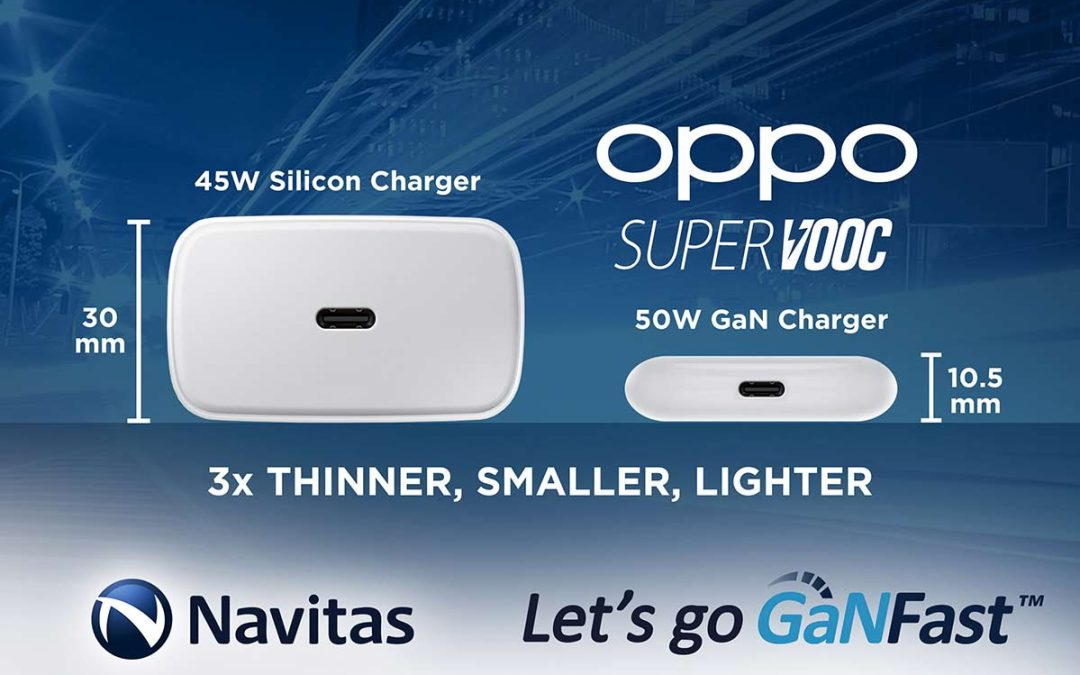 Navitas Enables OPPO's Dream:  The Smallest, Thinnest, Lightest, Universal Fast Charger Ever