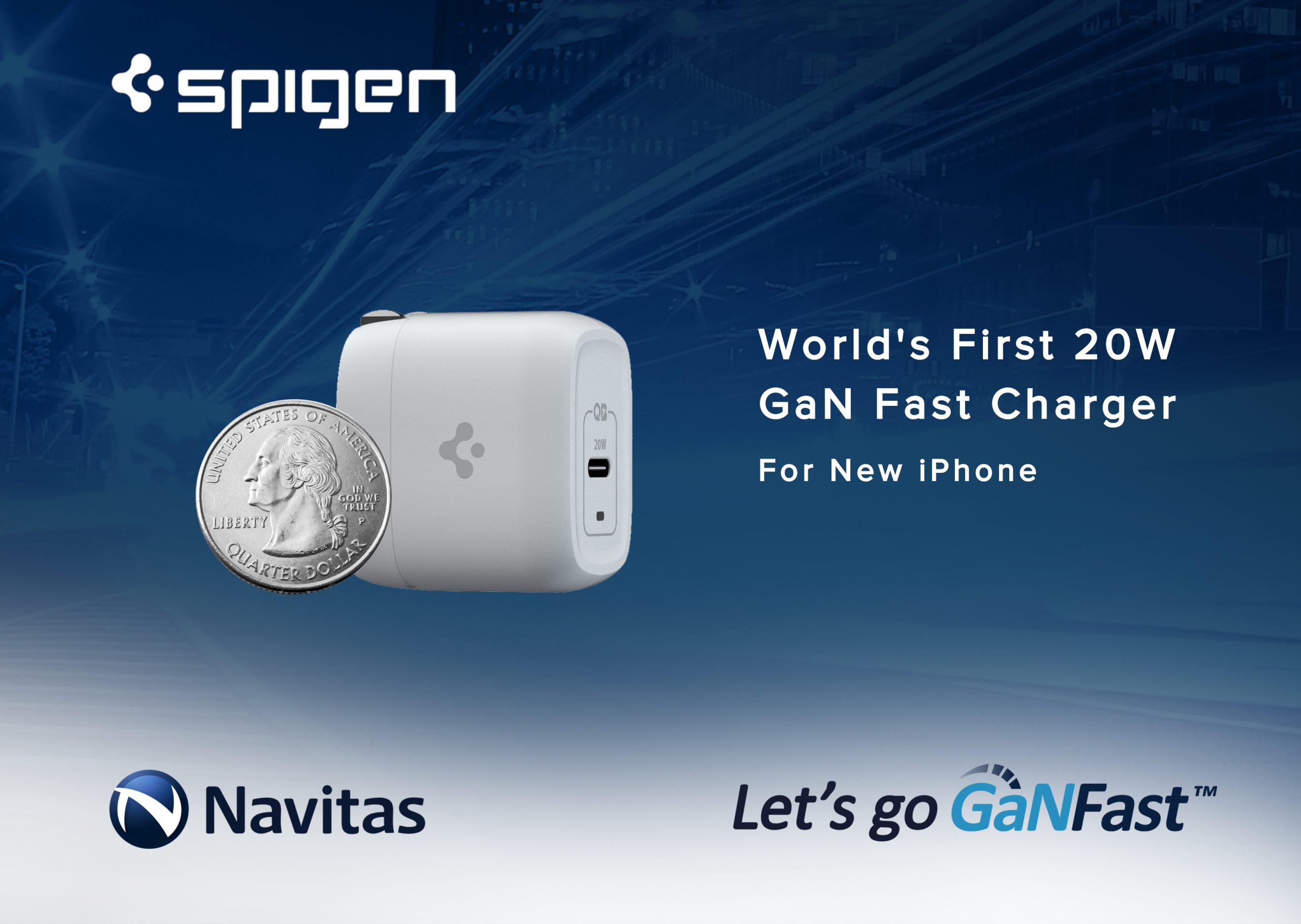 Spigen PowerArc Announces New 20W GaNFast ArcStation Pro, the World's First and Smallest GaN Fast Charger For The Upcoming iPhone