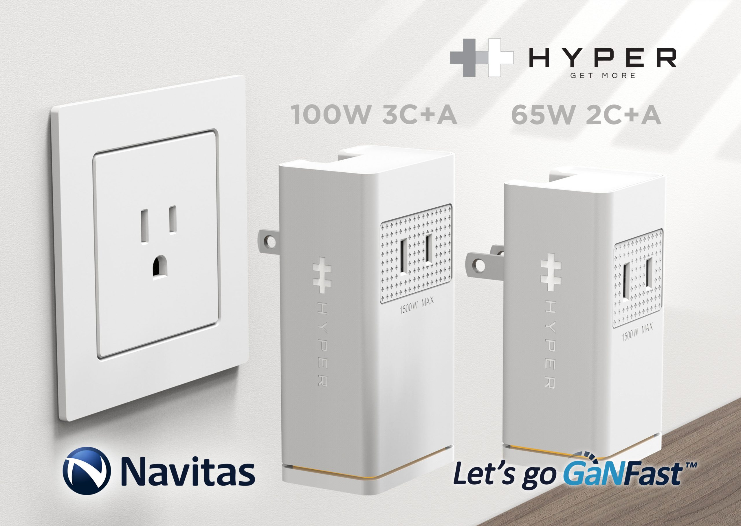 Navitas & Hyper Reveal Stackable Mobile Fast Chargers for More Power, More Devices.