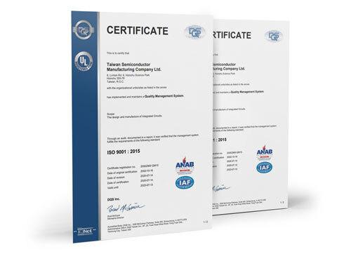 TSMC Certificate