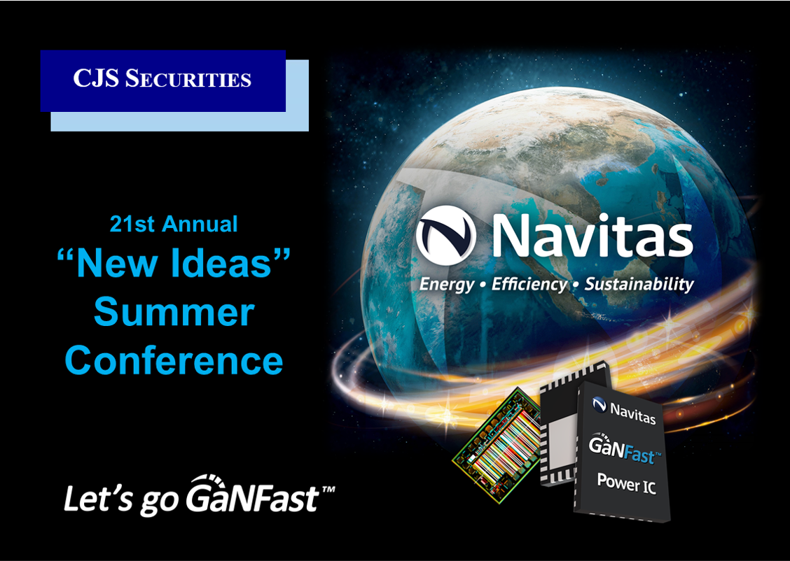 """Navitas to Participate in CJS Securities """"New Ideas"""" Summer Conference"""