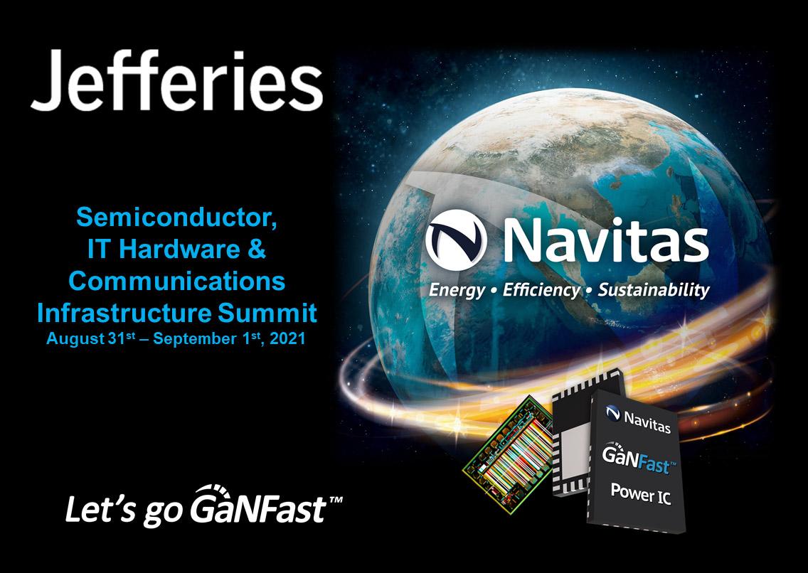 Navitas Highlights Next-Generation Semiconductor Growth at Jefferies Investor Summit